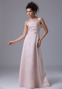 Pink One Shoulder 2013 Pageant Dresses For Miss America with Floor-length and Ruches