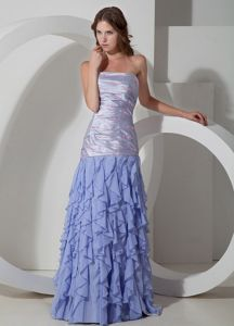 2013 Lilac Column Strapless Ruched Natural Beauty Pageants Dress in Manchester