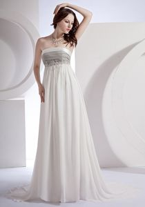 Empire Appliques Decorated Bodice Strapless White Pageant Dress Patterns in 2013