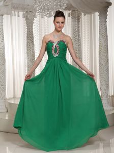 Green Sweetheart with Ruches and Beads Pageant Girl Dresses in Edmonton Alberta