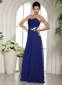 Royal Blue Appliqued Sweetheart Beauty Pageant Dresses with Beading in Nottingham