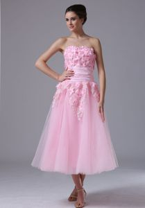 Pink Tulle 2013 Sweet Pageant Dresses with Hand Made Flower in Salem