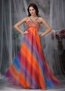 Colorful Floor-length Chiffon Glitz Pageant Dresses with Beading in Potomac