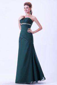 Green Appliqued Ruched Pageant Dresses For Miss America in Ames