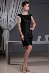 Bateau Ruffled Interview Pageant Suits with Beading and Cap Sleeves