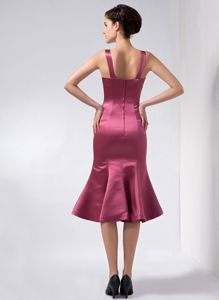 Knee-length Taffeta Beauty Pageant Dresses in Burgundy in Woodstock