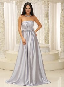 Sliver Strapless Ruched Elegant Beauty Pageant Dresses in Wilmington
