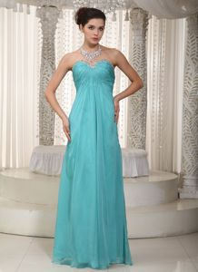 Sweetheart Floor-length Chiffon Interview Pageant Suits with Beading