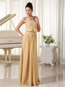 Champagne Chiffon Girl Pageant Dresses with Zipper-up Back in Paarl