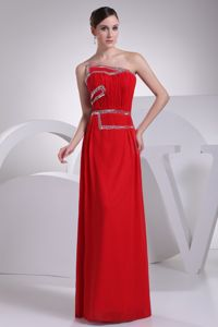 Ruching Beaded Red Brand New Newport Beach Girl Pageant Dresses