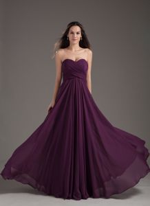 Ruching Dark Purple Chiffon Pageant Girl Dresses in Saint Paul