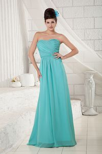 Ruched Turquoise Pageant Dresses with Brush Train in Broomfield