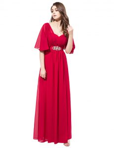 Beauteous Floor Length Zipper Pageant Dress Coral Red for Prom and Party with Beading