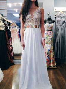 Superior Sleeveless Backless Floor Length Beading Pageant Dress for Teens