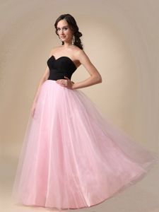 Black and Pink Ruched Simple Pageant Dresses in Colorado Springs