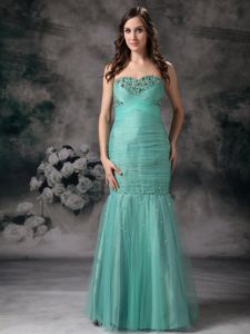 Mermaid Turquoise Organza Beaded New Britain Pageant Dress Patterns