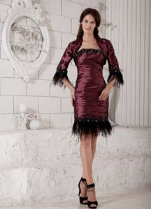 Ruched Burgundy Taffeta Miss Universe Pageant Dress in Tallahassee