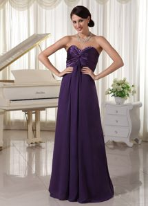 Beaded Dark Purple Ruched Pageant Dress Patterns in Big Bear Lake