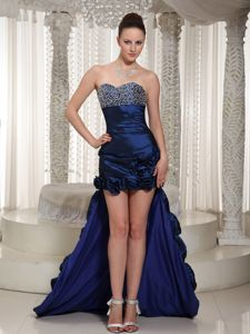 High-low Beading Royal Blue Pageant Dress Patterns in Perpignan