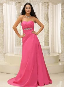 Rose Pink Sweetheart Appliques Natural Beauty Pageants Dress