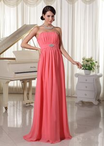 Watermelon Empire Pageant Dress with Beading Strapless in Caen