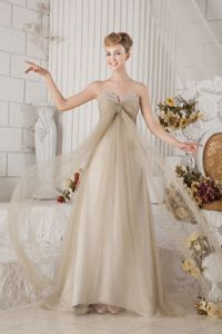 Empire Sweetheart Beading Brown Pageant Dress Patterns in Niort