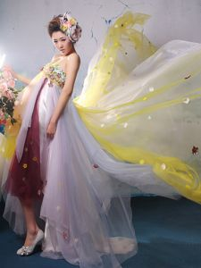 Chiffon Multi-color Appliques Youth Pageant Dresses in West Sussex