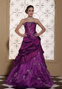Purple Interview Pageant Suits with Embroidery from Hermosa Beach