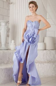 Lilac Asymmetrical Ruche Miss Universe Pageant Dresses with Mermaid