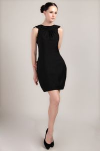 Black Bateau Mini Ruche Interview Pageant Suits in Fresno with Column