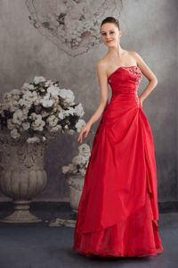 Red Appliques Long Youth Pageant Dresses in A-line from Beverly Hills