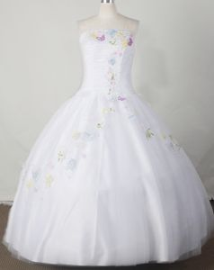 Embroidered and Beaded Strapless Pageant Dresses for Teens in Wisconsin
