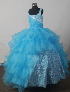 Scoop Luxurious Ball Gown Little Girls Pageant Dresses in Floor-length from Montgomery