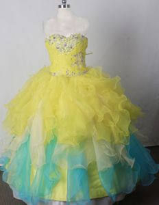 Sweetheart Brand New Beaded Ball Gown Little Girls Pageant Dresses in Floor-length in Fargo