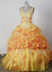 Appliqued Beaded Floor-length Sweetheart Little Girls Pageant Dresses with Straps in Tigard