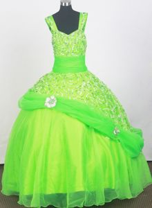 2013 Elegant Spring Green for Little Girls Pageant Dresses with Beading from San Carlos