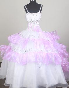2013 Sweet Ruffled Layers Little Girls Pageant Dresses with Beading from Montgomery