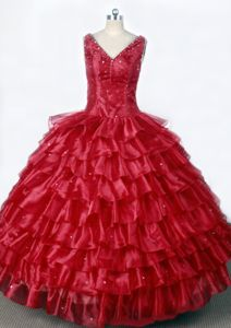 Ruffled Layers Luxurious Little Girls Pageant Dresses with Beading from Escondido