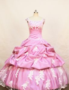 Pick-ups Scoop Rose Pink Little Girls Pageant Dresses with Appliques in Saint Helena