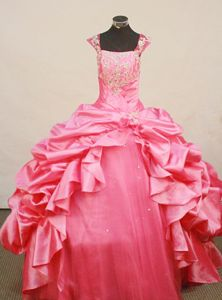 Recommended Straps Pick-up Skirt Floor-Length Pageant Dresses For Kids