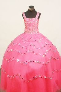 Exquisite Little Girl Pageant Dresses Tank Straps Shimmering Sequin