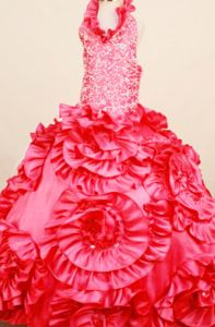 Pageant Dresses For Teens with Shimmering Bodice and Floral Pattern
