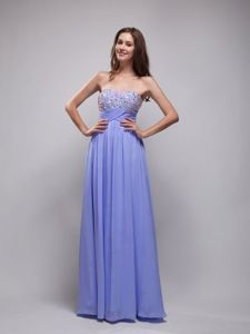 Lilac Empire Floor-Length Beaded Strapless Pageant Dress for Girls in Burlington
