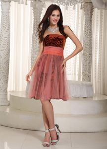 Wonderful Strapless Knee-length Tulle Pageant Girl Dresses with Belt in Chicago
