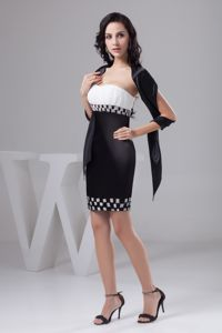 Exquisite Black and White Ruched and Beaded Miss Universe Pageant Dresses