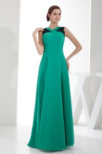 Dressy Turquoise V-neck Chiffon Pageant Girl Dresses with Lace in Albany