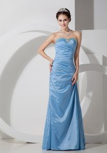 Baby Blue Taffeta Pageant Dress of Floor Length in West Branch