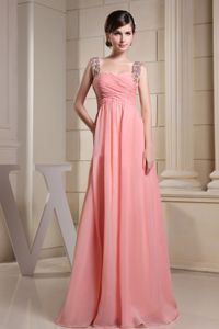 Chiffon Pageant Dress with Beaded Straps in Brownstown Township
