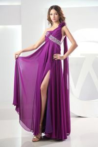 Fuchsia Pageant Dress with Watteau Train and Beaded Straps in Jordan