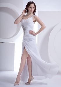 White Pageant Dress with Appliques and Cool Back in Burnaby